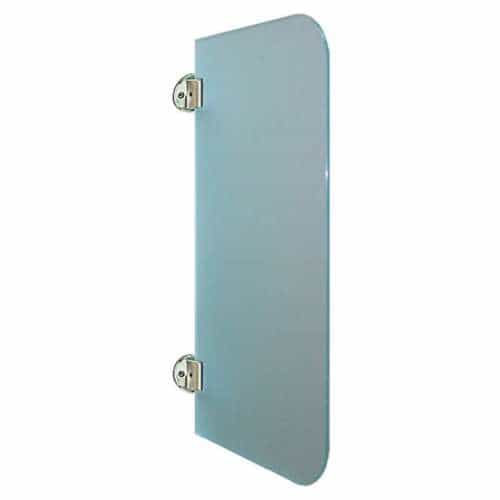 Exklusive Urinaltrennwand Satinato aus ES-Glas runde Ecken