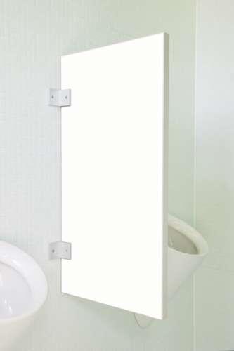 Standard Urinaltrennwand Novara aus Holzwerkstoff Verkehrsweiß