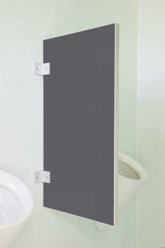 Standard Urinaltrennwand Novara aus Holzwerkstoff Quarzgrau