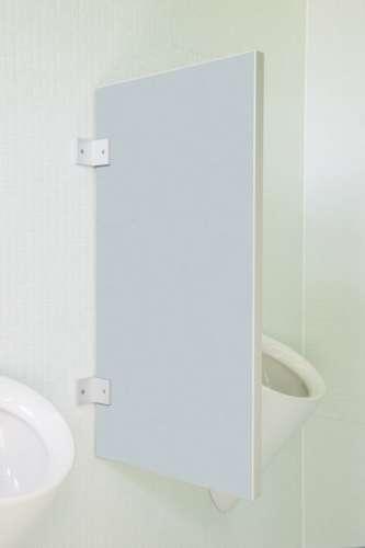 Standard Urinaltrennwand Novara aus Holzwerkstoff Silber