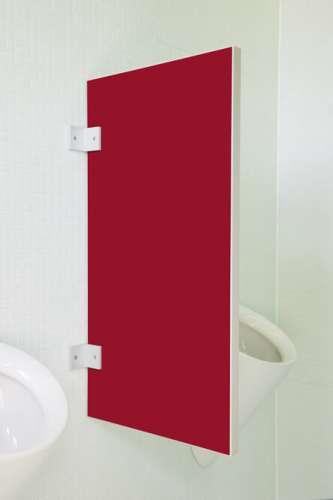 Standard Urinaltrennwand Vittoria in bunten Farben Granatrot