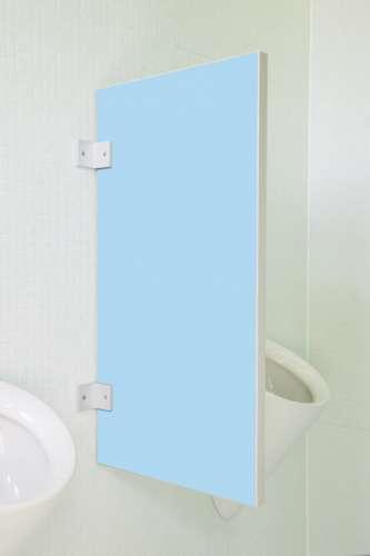 Standard Urinaltrennwand Vittoria in bunten Farben Lagunblau