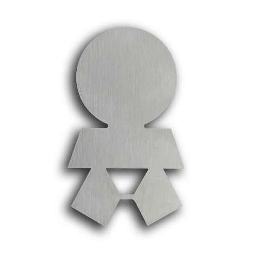 Türsymbol ethno aus Edelstahl Wickelraum