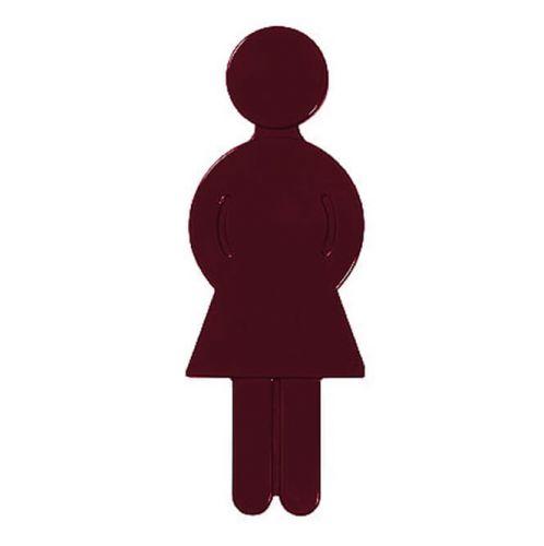 Türsymbol aus Nylon Damen | dunkelrot