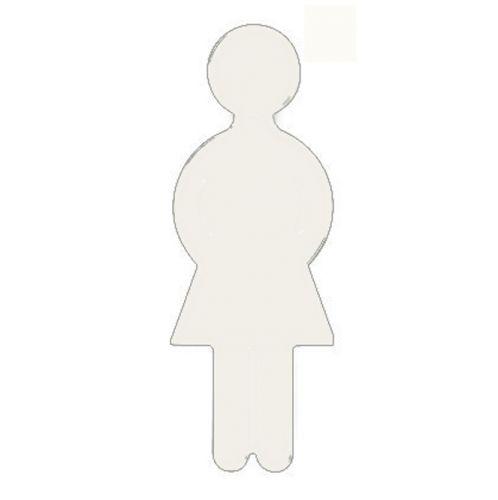 Türsymbol aus Nylon Damen   weiß