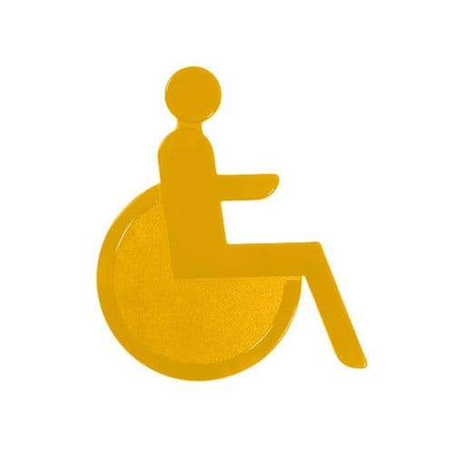 Türsymbol aus Nylon Rollstuhl | gelb