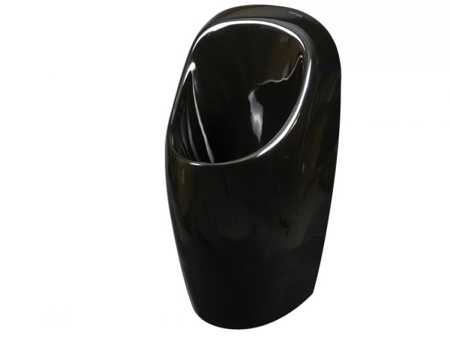 Urinal Urimat Ceramiccompact Bunt schwarz glänzend