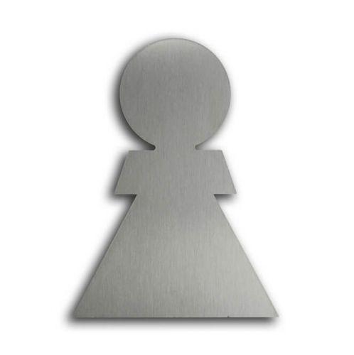 Türsymbol ethno aus Edelstahl Damen