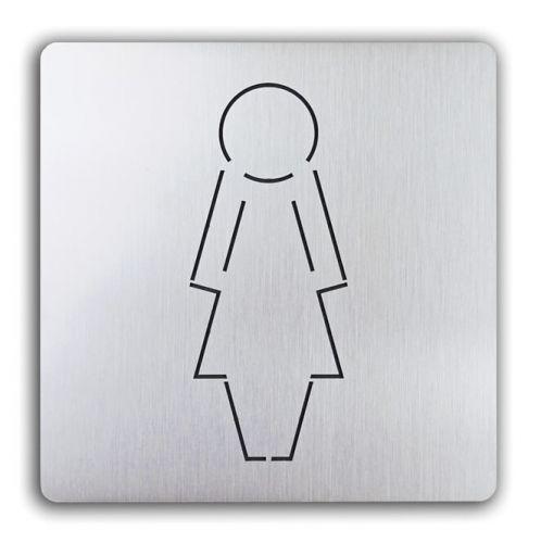 Türschild uno aus Aluminium Damen