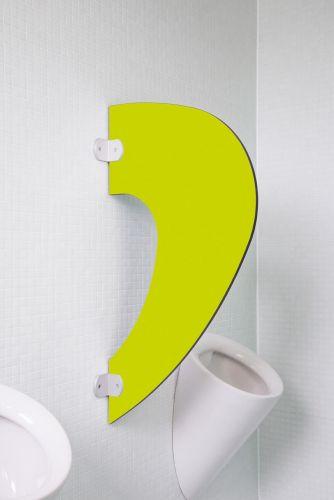 Designer Schamwand Imola in bunten Farben Limonengrün