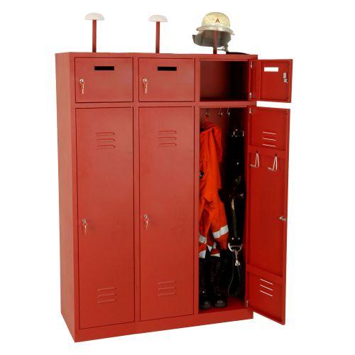 3-Fach Feuerwehrschrank Fresta mit Türen
