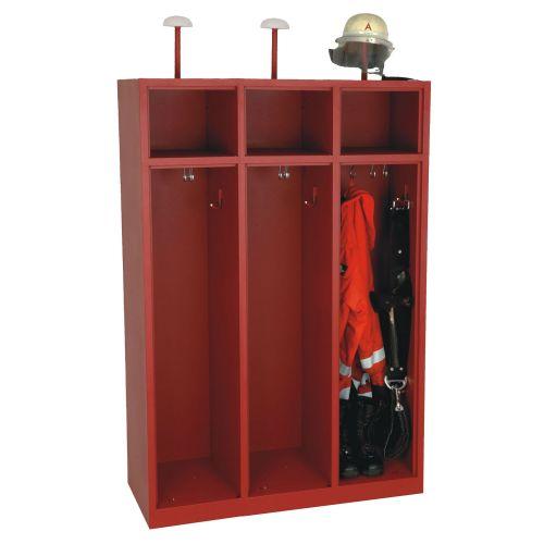 3-Fach Feuerwehrschrank Fresta ohne Türen