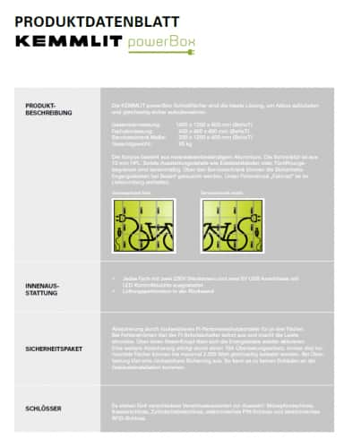 Flyer Techn. Datenblatt Powerbox