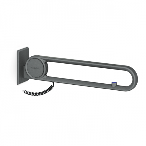 Cavere® Stützklappgriff vario mit E-Taster Silber | 725mm