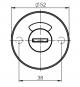 Rosette für Türknopfgarnitur aus Nylon 10er Pack Schauscheibe weiß