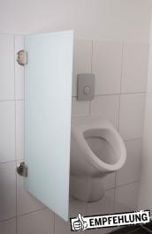 Exklusive Urinaltrennwand Siena aus ESG-Glas